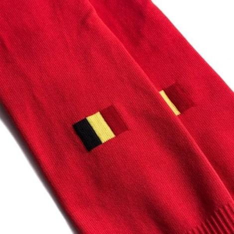 Домашняя футболка сборной Бельгии на ЕВРО 2020 гетры флаг
