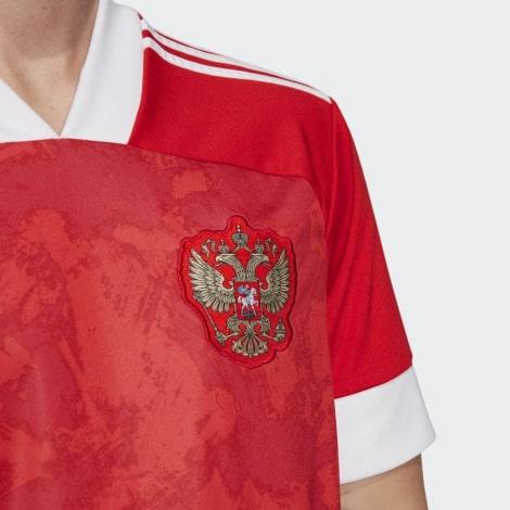Детская домашняя форма России Дзагоев на ЕВРО 2020 герб сборной