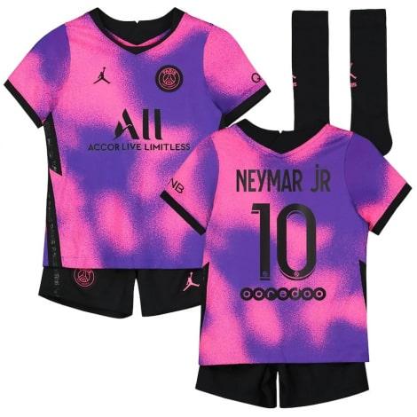 Детская четвертая футбольная форма Неймар 2020-2021 футболка шорты и гетры