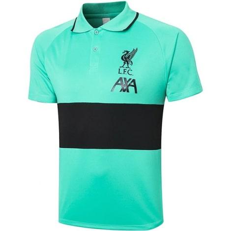 Мятно-черная футболка поло Ливерпуля 20-21
