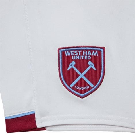 Комплект детской домашней формы Вест Хэм 2020-2021 шорты герб клуба Лингард