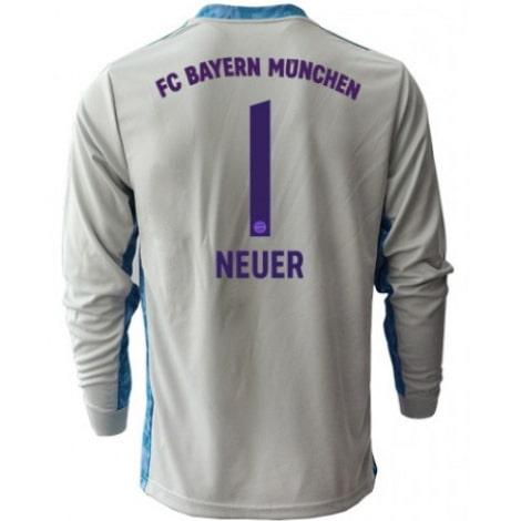 Серая футболка Нойер с длинными рукавами 2020-2021