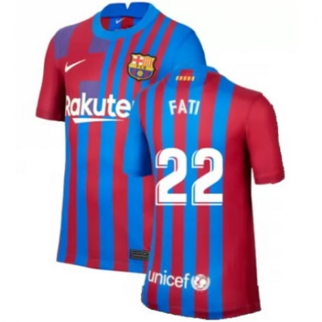 Домашняя футболка Барселоны 2020-2021 Фати