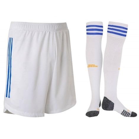Домашняя форма Реала с длинными рукавами 2021-2022 Винисиус шорты и гетры