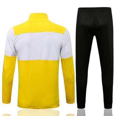 Черно-желтый тренировочный костюм Челси 2021-2022 сзади