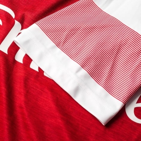 Домашняя футболка Арсенала Обамеянг номер 14 2018-2019 рукав