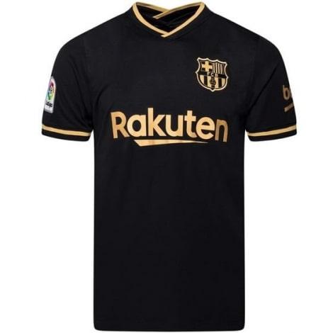 Гостевая футболка Барселоны 2020-2021 Лионель Месси спереди
