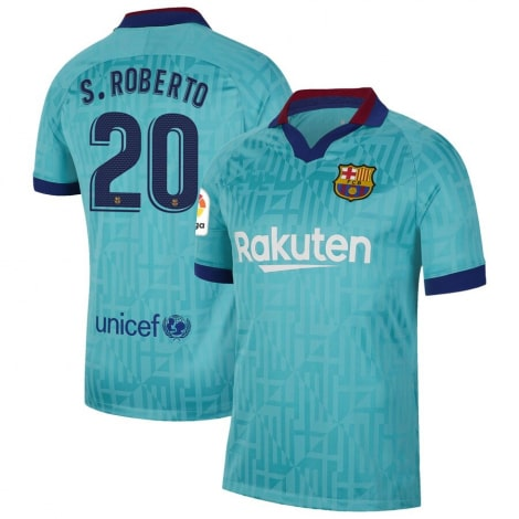Третья футболка Барселоны 2019-2020 Серхио Роберто номер 20