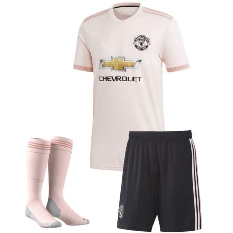 Комплект детской гостевой формы Манчестер Юнайтед 2018-2019 футболка шорты и гетры
