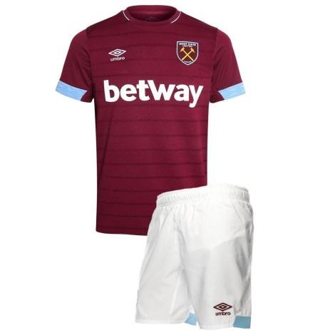 Комплект детской домашней формы Вест Хэм 2018-2019 футболка и шорты