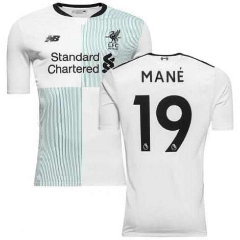 Гостевая игровая футболка Ливерпуля 2017-2018 Садио Мане