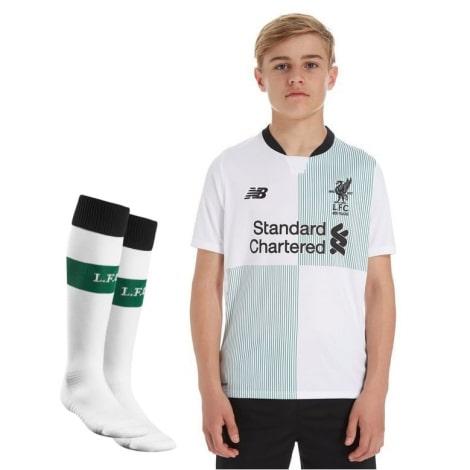 Детская гостевая футбольная форма Ливерпуля 2017-2018