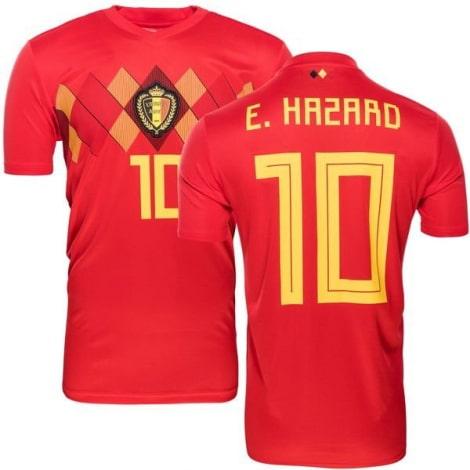 Домашняя футболка сборной Бельгии на ЧМ 2018 Эден Азар