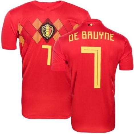 Домашняя футболка сборной Бельгии на ЧМ 2018 Кевин Де Брёйне номер 7