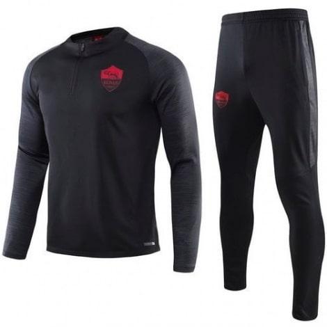 Черно серый тренировочный костюм Ромы 2020-2021