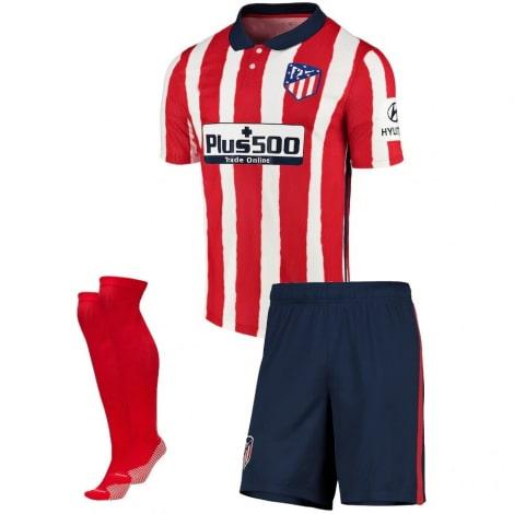 Взрослый комплект домашней формы Атлетико 2020-2021 футболка шорыт и гетры