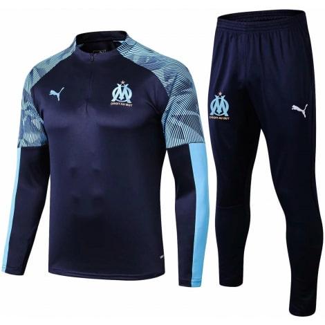Детский синий тренировочный костюм Марселя 2019-2020