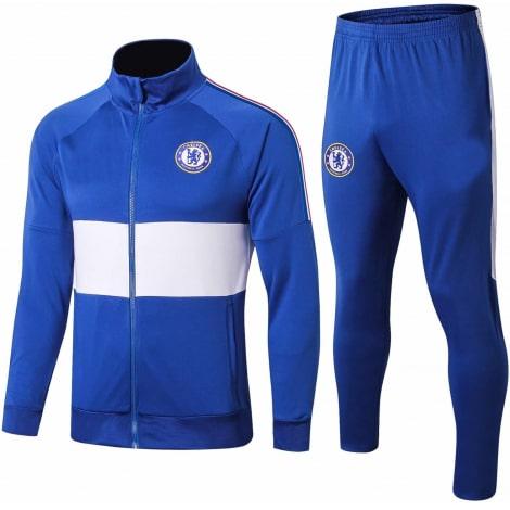 Взрослый сине-белый тренировочный костюм Челси 2019-2020