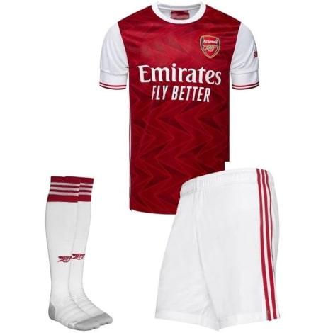 Комплект детской домашней формы Арсенала 2020-2021 футболка шорыт и гетры