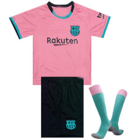 Комплект детской третьей формы Барселоны 2020-2021