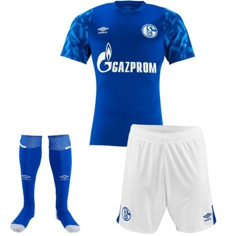 Комплект детской домашней формы Шальке 04 2019-2020 футболка шорты и гетры