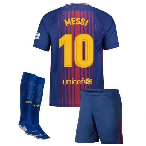 Детская домашняя футбольная форма Месси 2017-2018