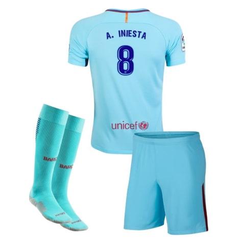 Детская гостевая футбольная форма Иньеста 2017-2018