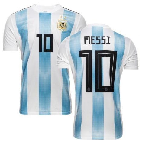 Футболка сборной Аргентины на ЧМ 2018 Лионель Месси номер 10