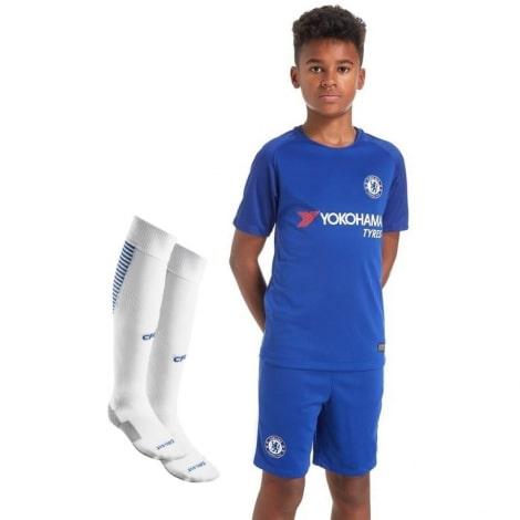 Детская футбольная форма Челси 2017-2018 футболка, шорты и гетры