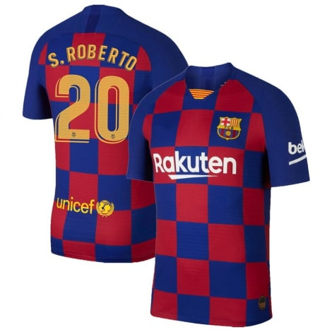 Домашняя футболка Барселоны 2019-2020 Серхио Роберто номер 20