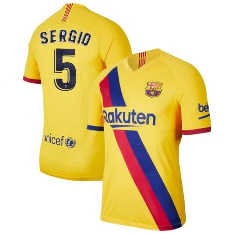 Гостевая футболка Барселоны 2019-2020 Серхио Бускетс