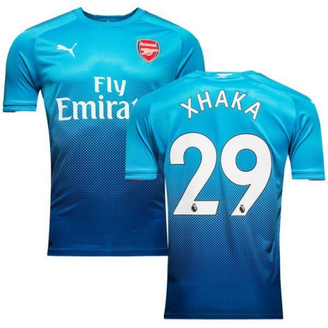 Гостевая футболка Арсенала 2017-2018 Гранит Джака