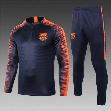 Детский оранжево-черный костюм Барселоны 19-20