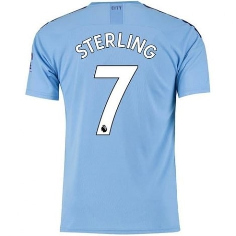 Детская домашняя футбольная форма Рахим Стерлинг 19-20