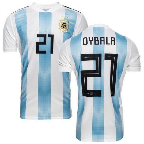 Футболка сборной Аргентины на ЧМ 2018 Пауло Дибала номер 21