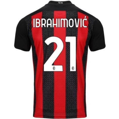 Домашняя футболка Милана 2020-2021 Златан Ибрагимович номер 21