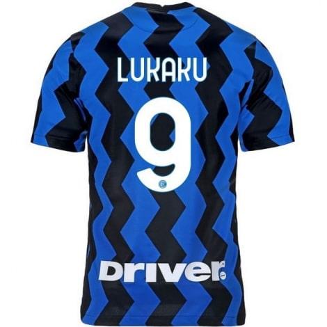 Домашняя игровая футболка Интера Ромелу Лукаку 2020-2021