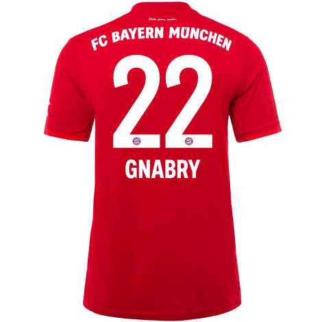 Домашняя футболка Баварии 2019-2020 Серж Гнабри номер 22