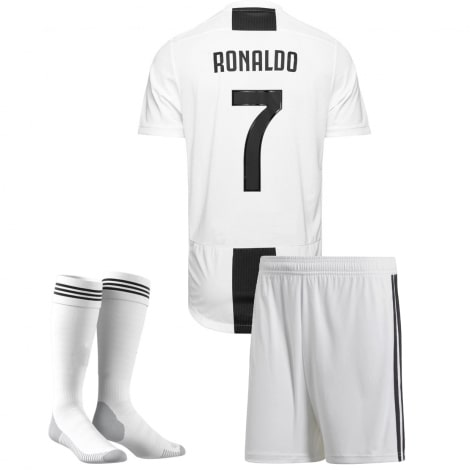 Детская домашняя футбольная форма Роналдо 2018-2019 футболка шорты и гетры