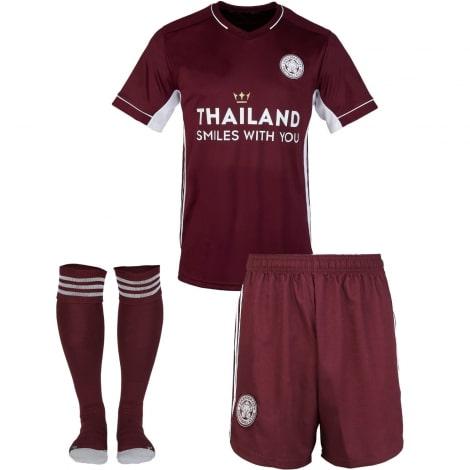 Комплект детской третьей формы Лестер Сити 2020-2021 футболка шорыт и гетры