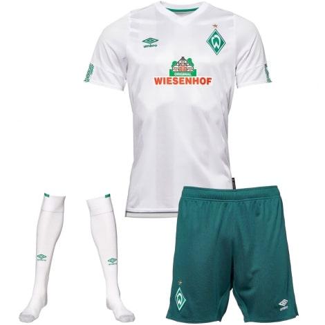 Комплект взрослой гостевой формы Вердер Бремен 2019-2020 футболка шорты и гетры