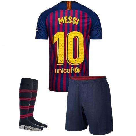 Детская домашняя футбольная форма Месси 2018-2019