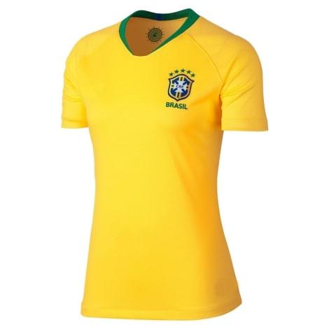Женская домашняя футболка сборной Бразилии на ЧМ 2018
