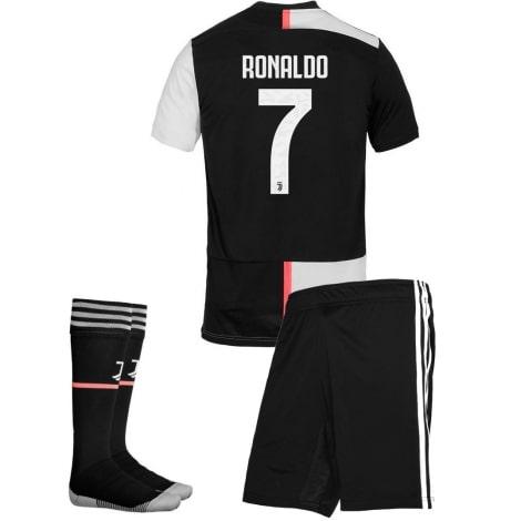 Детская домашняя футбольная форма Роналдо 2019-2020 футболка шорты и гетры