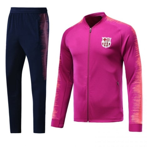 Взрослый сине-розовый костюм Барселоны 18-19 кофта и штаны