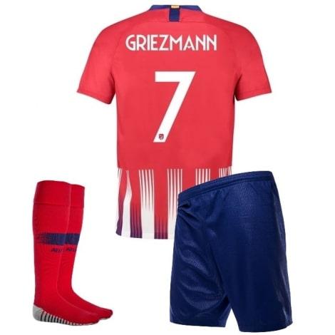Детская домашняя футбольная форма Гризманн 2018-2019 футболка шорты и гетры