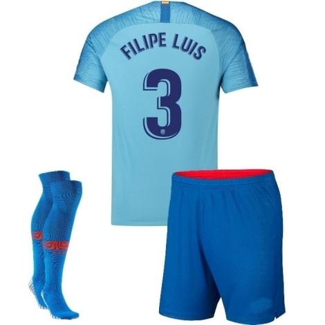 Детская гостевая футбольная форма Филипе Луис 2018-2019 футболка шорты и гетры