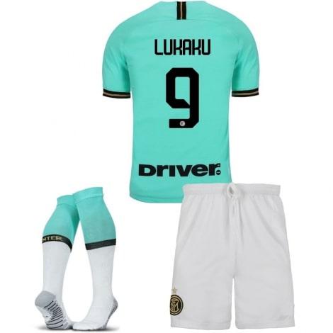 Детская гостевая форма Интера Ромелу Лукаку 2019-2020 футболка шорты и гетры