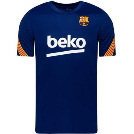 Синяя тренировочная футболка Барселоны 2020-2021