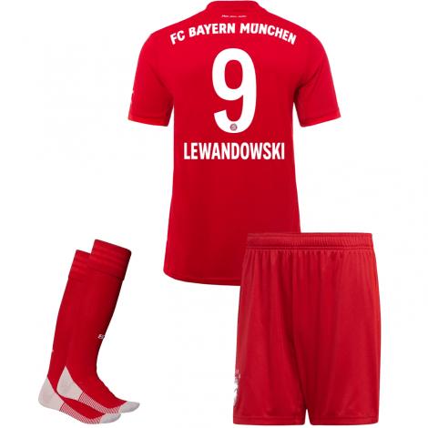 Детская домашняя форма Баварии Роберт Левандовски 2019-2020 футболка шорыт и гетры